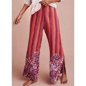 Anthropologie Lilka Striped Paisley Sleep Pants